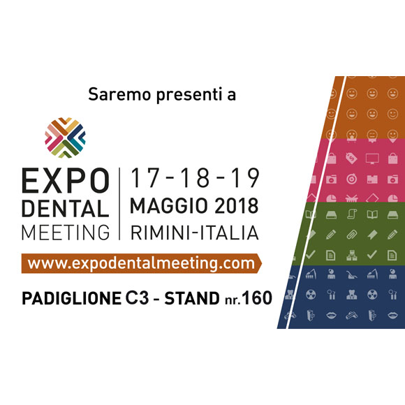 Saremo presenti a EXPO DENTAL MEETING 2018