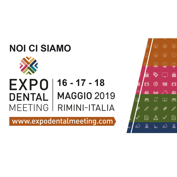 Saremo presenti a EXPO DENTAL MEETING 2019