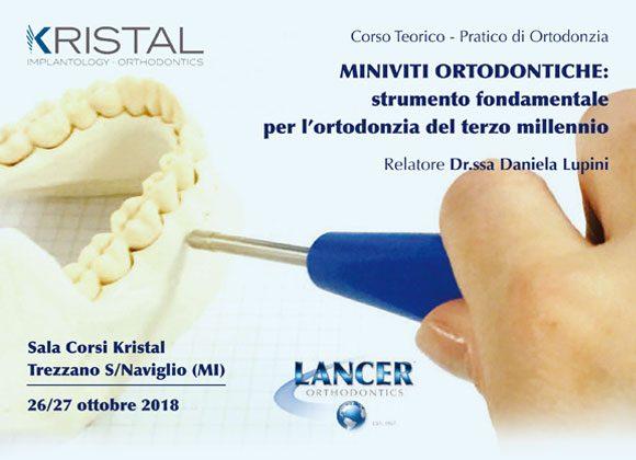 Corso Teorico-Pratico di Ortodonzia 26/27 ottobre 2018 – Dr.ssa Daniela Lupini