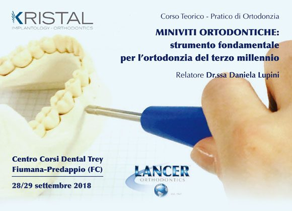Corso Teorico-Pratico di Ortodonzia 28/29 settembre 2018 – Dr.ssa Daniela Lupini