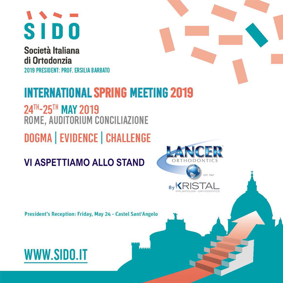 Vi aspettiamo all' INTERNATIONAL SPRING MEETING 2019