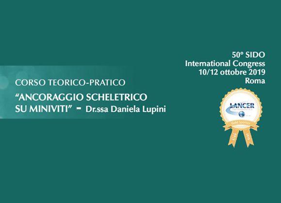 """Corso Teorico Pratico """"Ancoraggio Scheletrico su Miniviti"""" – Dr.ssa Daniela Lupini"""