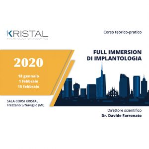 Corso full immersion di Implantologia 2020 – Dr. Davide Farronato