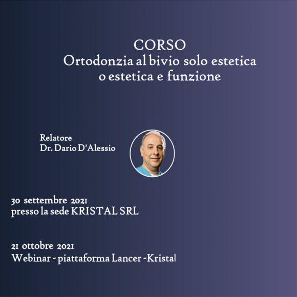 Ortodonzia al bivio Dr. D'Alessio 2021