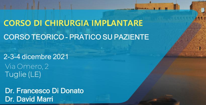 Corso chirurgia implantare – Tuglie 2021